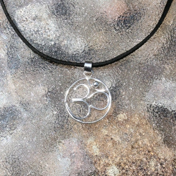 OM symbol Pendant Necklace, Yoga Accessory-Made to Order