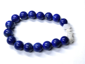 Lapis Lazuli and Rainbow Moonstone Bead Chip Bracelet Elastic Band Natural Stone Healing Crystal Accessory Yoga Reiki Zen Therapy jewelry