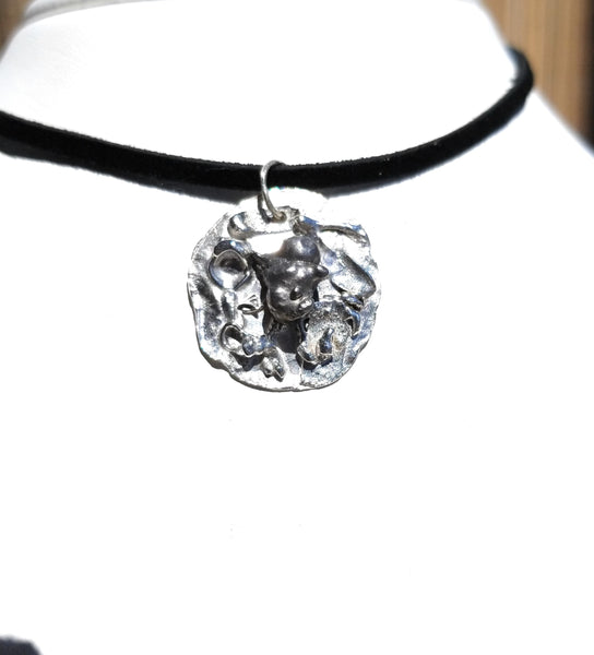 Meteorite Sterling Silver  Pendant Necklace