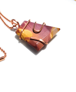 Moonkite Copper Wire Wrap Pendant Neklace