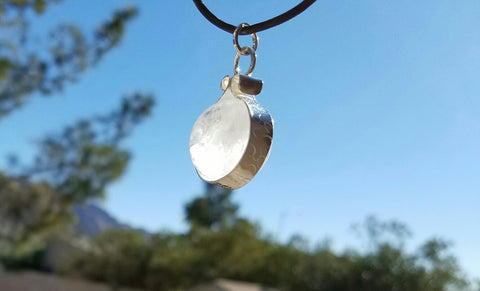 Clear Quartz Crystal Sphere Ball Pendant