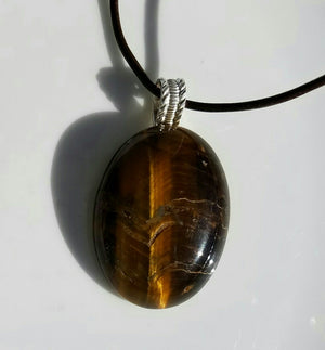 Tiger eye ring & pendant set