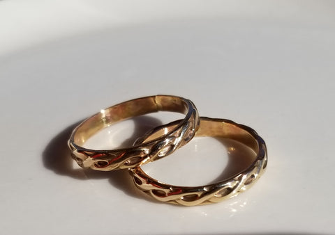 14K Gold Filled Ring Band-AMAZON.COM Special-Made-To-Order