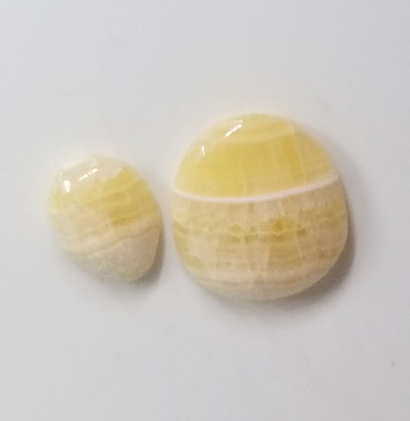 Travertine Onyx Free-form Cabochon 2 pieces