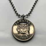 1969 to 1987 Jamaica 10 Cents coin pendant Jamaican Kingston crocodile pineapple coin pendant alligator May Pen Jamrock Jamdung Patois Ackee dub ska Caribbean n000115