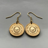 1990 Yugoslavia 10 Para coin earrings Serbia Croatia Belgrade Bosnia Herzegovina Slovenia Srbija Balkans South Slavic socialist e000289