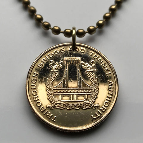Triborough Bridge & Tunnel Authority Rockaway Resident toll token MTA coin pendant One Fare Expressway transportation Queens USA n002478