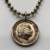 1965 Netherlands 1 Cent coin pendant Dutch Queen Juliana Utrecht Nederlanden Holland Tilburg Groningen Leiden Royal Highness Gouda n002568