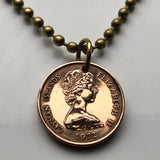1972 to 2005 Cayman Islands Cent coin pendant Grand Cayman thrush bird song bird sparrows Caribbean jewelry UK Bodden Town Jamaica n000319