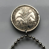 1941 French Indochina 20 Cent coin pendant Vietnam Cambodia Laos Huế Haiphong Can Tho Đà Nẵng Khmer Cham Viet Kinh WWII World War 2 n001896