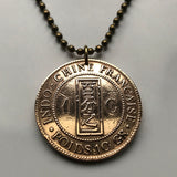 1885 Indochina Cent coin pendant Vietnam Cambodia Laos China Da Lat Viet Minh Indochinese Tonkin Asian Thailand Myanmar Chinese n002934