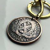 1842 Canada 1/2 Penny coin pendant Bank of Montreal token Quebec Canadian province Vancouver Ottawa Toronto Ville-Marie necklace n002340