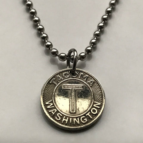 1938 USA Tacoma Washington State Railway Token coin pendant transit 6th Avenue Stadium Lincoln Business District vintage souvenir n003100