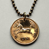 1952 India Pice coin pendant Lion Capital of Ashoka horse Sarnath New Delhi Mumbai Bangalore Hyderabad Taj Mahal Hindu Hindi Punjab n000007