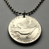 1975 Vatican Italy 100 Lire coin pendant peace dove Holy See Rome apostolic episcopal diocese bishop pope Roman Catholic Church bird n001701