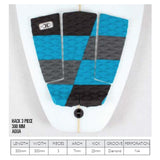 O & E Tail Pad Hack Aqua 3 Piece - SUPSHED NZ