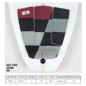 O & E Tail Pad Hack Red 3 Piece - SUPSHED NZ