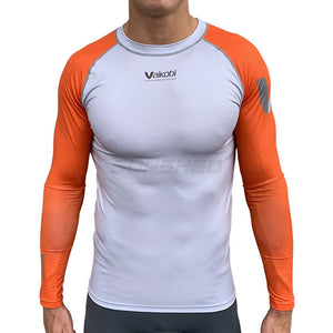 Vaikobi VOcean Long Sleeve UV Top - Orange / Silver - Unisex Front - SUPSHEDNZ