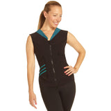 SUP Merge Front Zipper Vest Teal Front