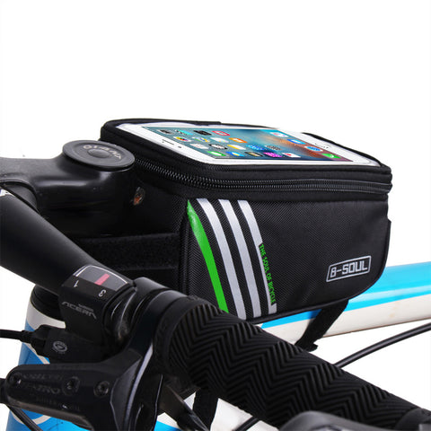 1.5L Cycling Bike Frame Front Tube Bag Waterproof Bike Bags for 5.5 inch Touch Mobile Phone bicycle accessories