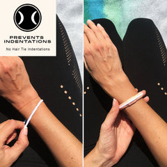 Water /& Sweat Proof or Gym Mix n/' Match your Activewear for Yoga Hair Tie Bracelet Pilates Spin Soft Flexible Bracelet Hair Tie holder