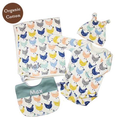 Roost Personalised Baby Boy Gift Set