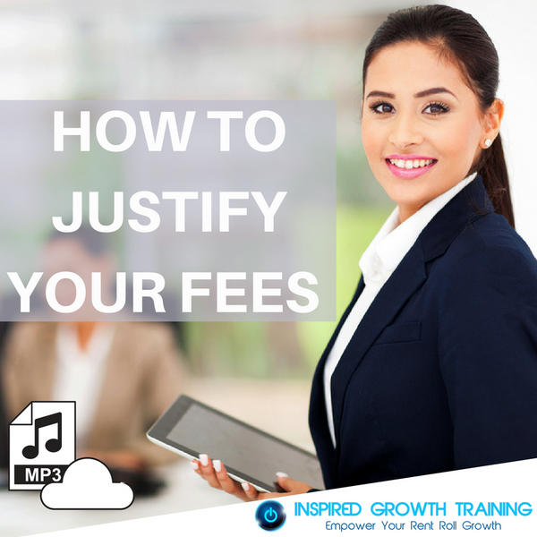 How to Justify Your Fees - MP3
