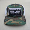 """Fortune Favors the Bold"" hat - camo/white"