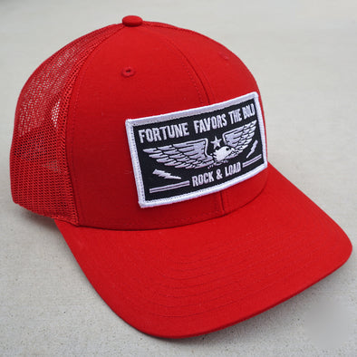 """Fortune Favors the Bold"" hat - red"