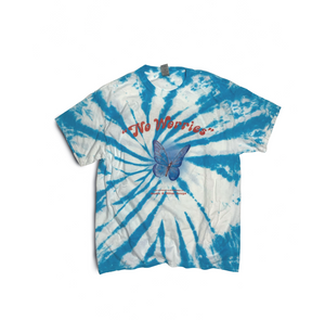 No Worries Baby Blue Tie Dye T-shirt (Limited Edition)