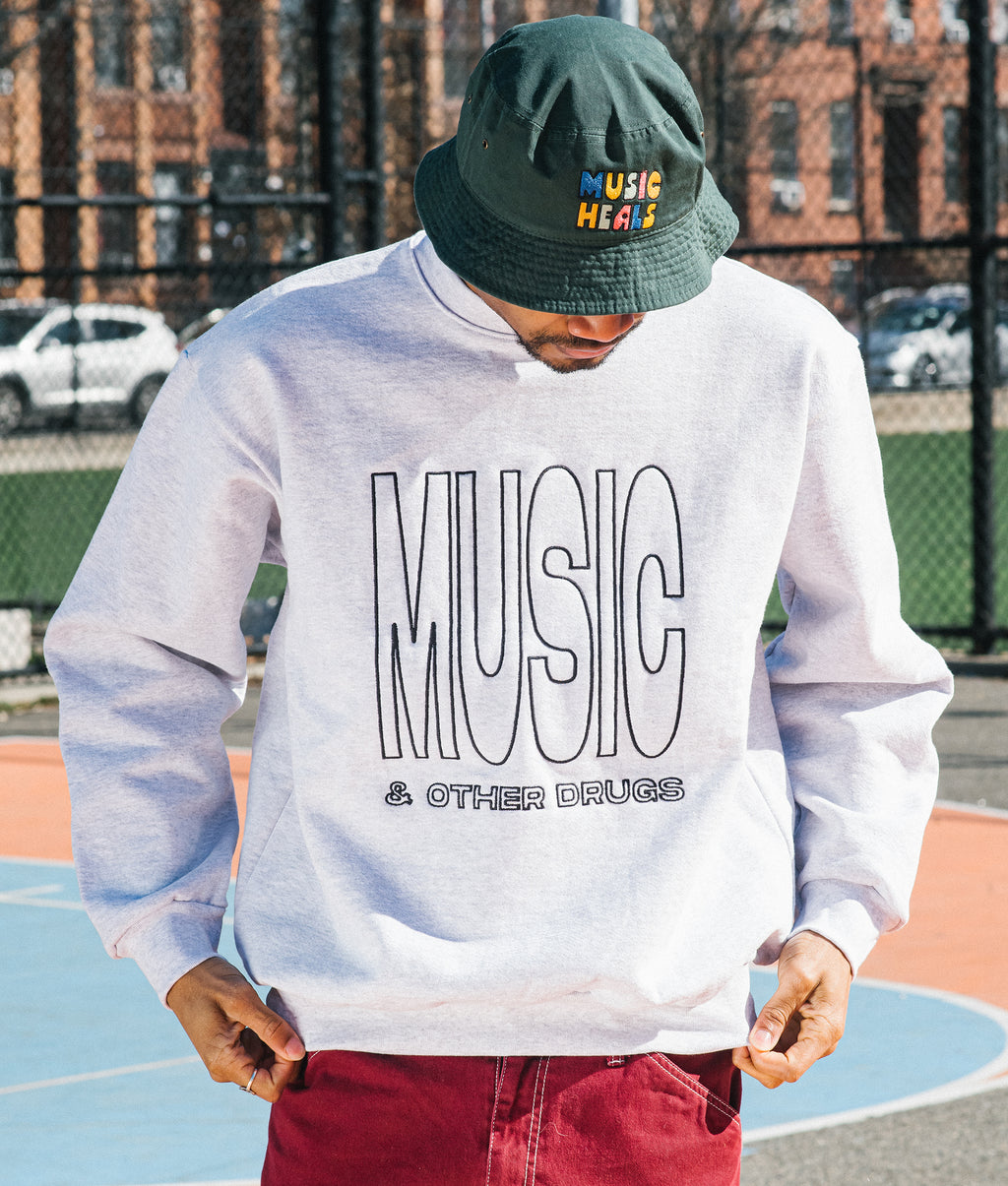 Music and Other Drugs Embroidered Sweatshirt