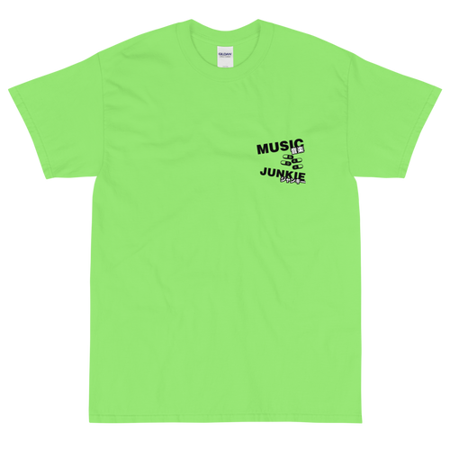 Music Junkie T-Shirt (Lime Green)