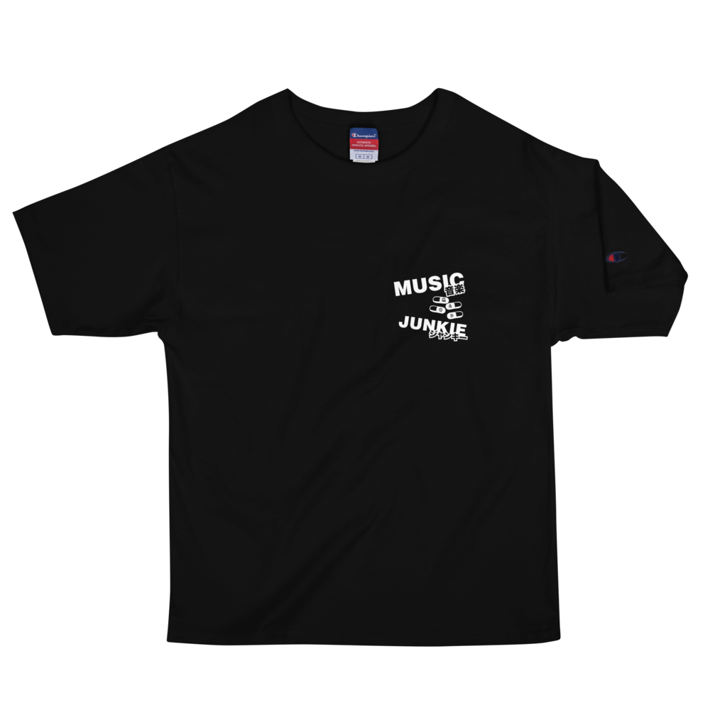 Music Junkie Champion T-Shirt (Black)