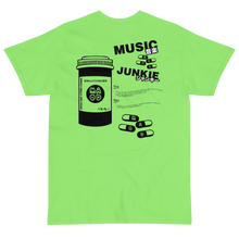 Load image into Gallery viewer, Music Junkie T-Shirt (Lime Green)