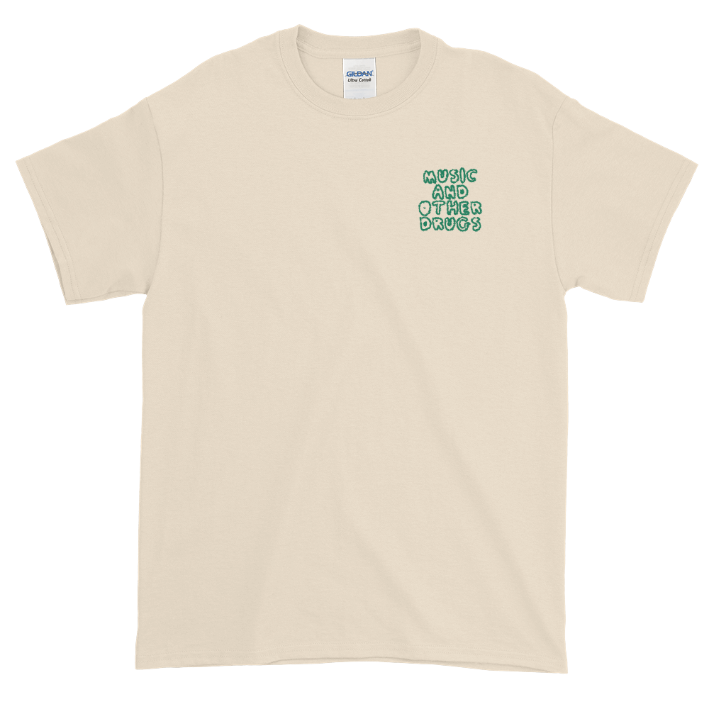 Music and Other Drugs Embroidered Tee (Natural/Green)