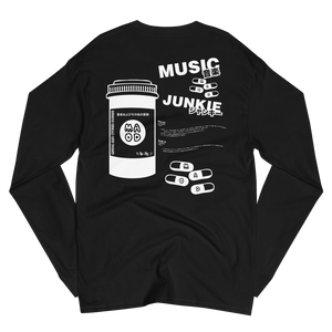 Music Junkie Champion Long Sleeve Shirt (Black)