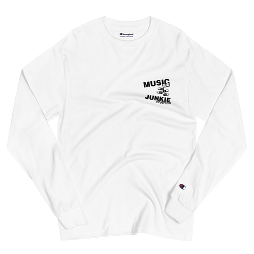 Music Junkie Champion Long Sleeve Shirt (White)