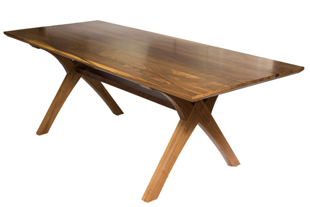 ... Solid Wood Walnut Dining Table Custom Furniture That Is Handmade In San  Diego. View 10 ...
