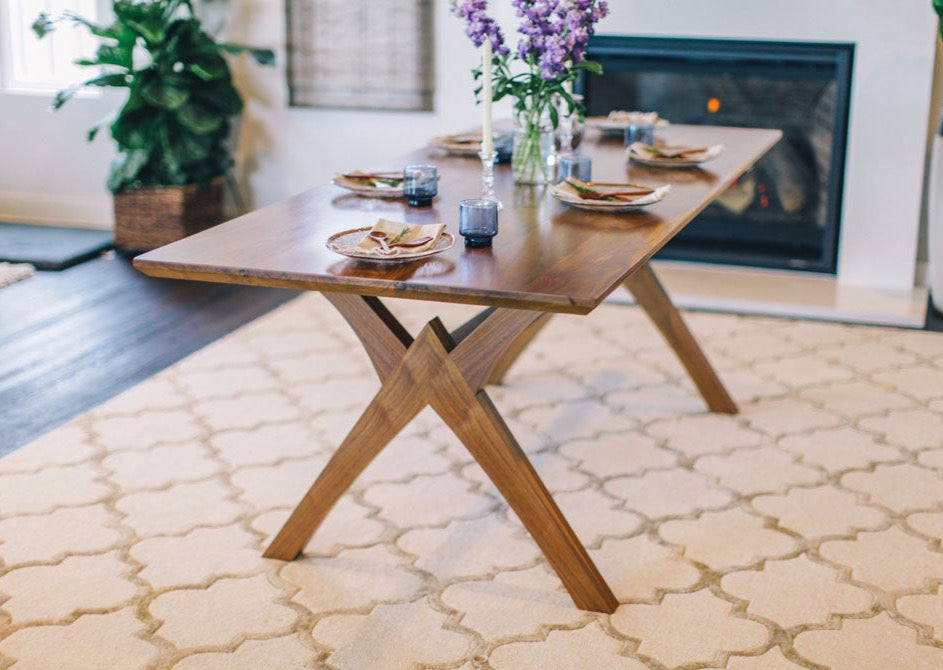 solid wood walnut dining table custom furniture that is handmade in san diego. view 1 ... & Solid Walnut Wood Dining Table-Custom Furniture from San Diego ...