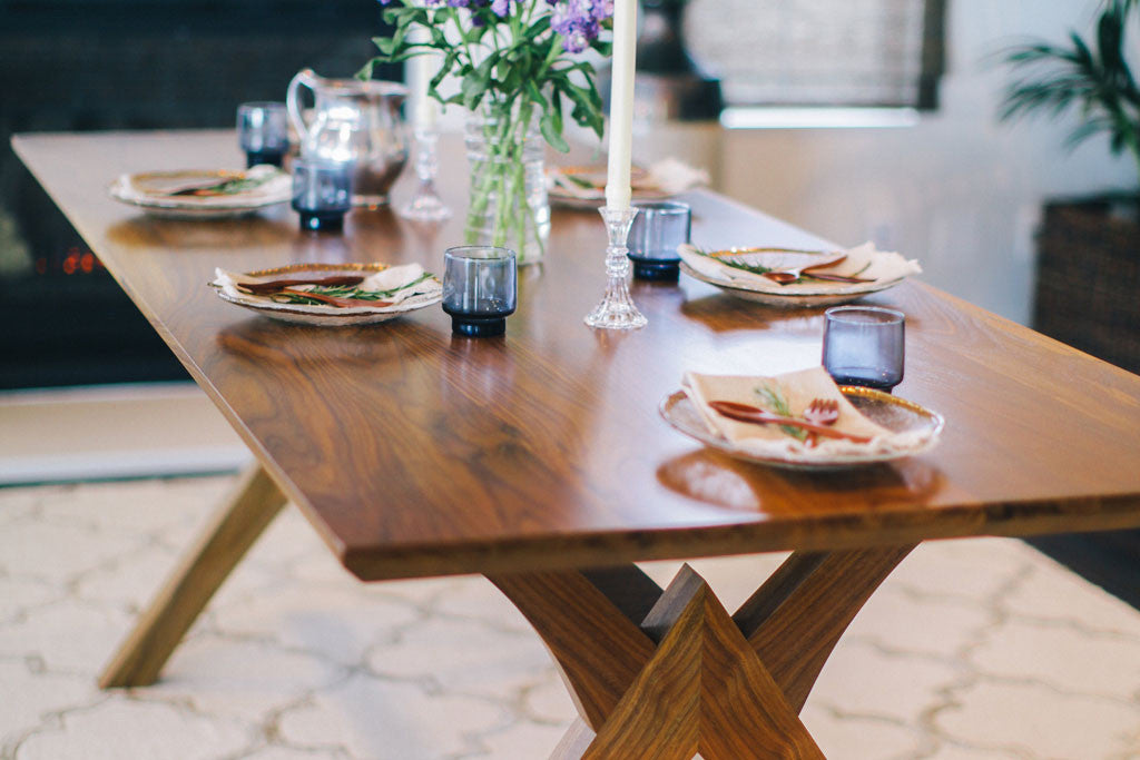 Solid Walnut Wood Dining Table Custom Furniture from San Diego