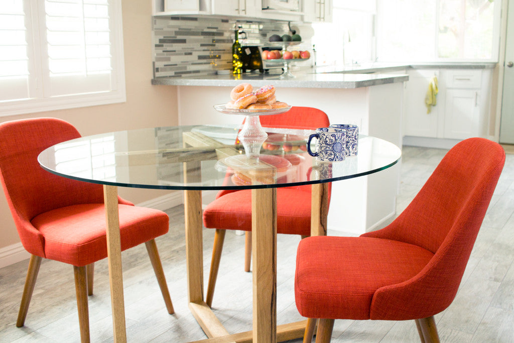 Complete View Of Our Bare Dining Table. The Three Major Elements Are A  Glass Round ...