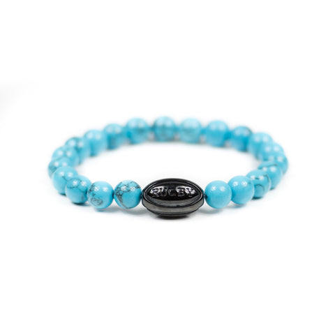 Turquoise w/ Black Rugby Ball