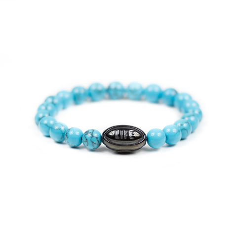 Turquoise w/ Black Rugby Ball - Elegant Violence Rugby Lifestyle