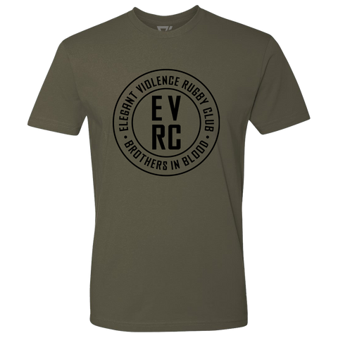 EVRC Brothers In Blood Premium Tee (Military Green) - Elegant Violence Rugby Lifestyle