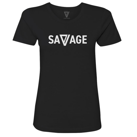 Savage Premium Ladies Tee (Black) - Elegant Violence Rugby Lifestyle