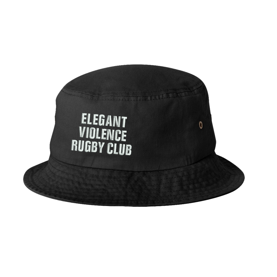 EVRC Embroidered Bucket Cap (Black) - Elegant Violence Rugby Lifestyle