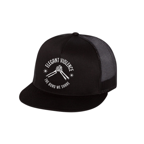 Bond We Share Classic Trucker Cap (Black) - Elegant Violence Rugby Lifestyle