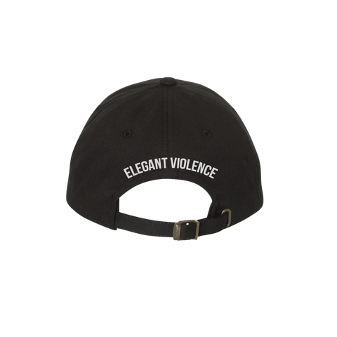 EV Icon Embroidered Dad Cap (Black) - Elegant Violence Rugby Lifestyle