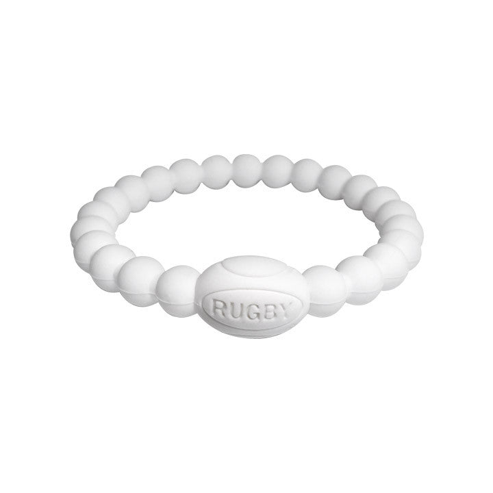 White Active Rugby Life Bracelet - Elegant Violence Rugby Lifestyle