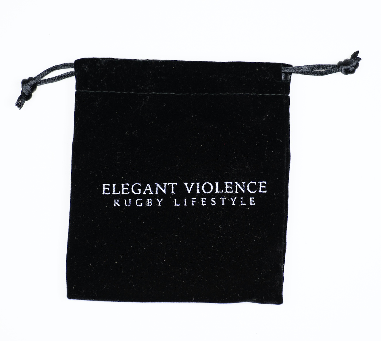 White Howlite w/ Black Rugby Ball - Elegant Violence Rugby Lifestyle